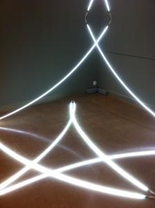 Oeuvre de François Morellet exposé au Musée de Caen en juin 2015